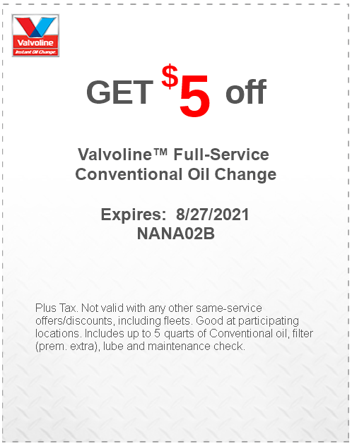Full-Service Conventional Oil Change at Valvoline